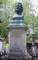 Μνημείο προς τιμήν του Μπαλζάκ στο Κοιμητήριο Περ Λασαίζ