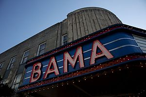 Bama Theatre - Detail of the marquee in 2010