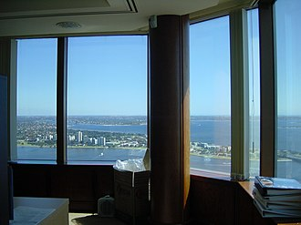 108 St Georges Terrace - Image: Bank West Tower view