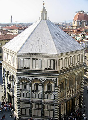Renaissance architecture - The Romanesque Baptistery of Florence was the object of Brunelleschi's studies of perspective