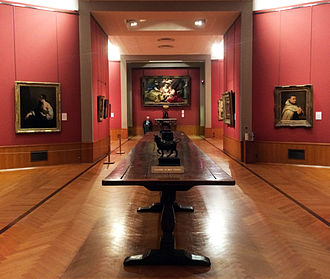 Barber Institute of Fine Arts - Interior of the gallery