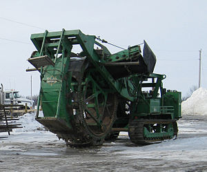 Trencher (machine) - A Barber-Greene trencher. Barber-Greene is now a division of Caterpillar