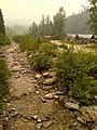 Barkerville as seen from Williams Creek, through the 2018 BC wildfire smoke.jpg