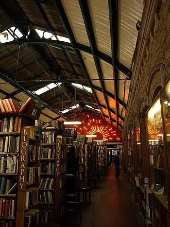 English: Barter Books, Alnwick Inside the old ...