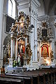 Basilica of the Dominican Friars in Lublin Saint Vincet Ferrer and Our Lady of the Rosary altars.JPG