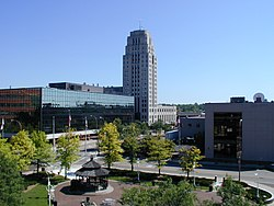 Downtown Battle Creek in late 2008