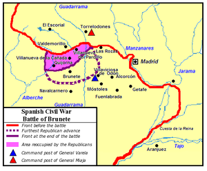 Battle of Brunete - Map of the Battle of the Brunete