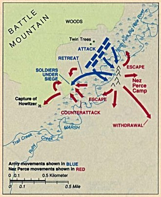 Battle of the Big Hole - Map of Battle of the Big Hole