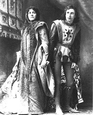 Pauline Joran - Saida (Joran) and Simon (Henry Lytton) in The Beauty Stone.