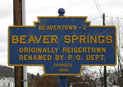 Official logo of Beaver Springs