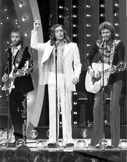 The Bee Gees performing at The Midnight Special in 1973 Bee Gees Midnight Special 1973.jpg