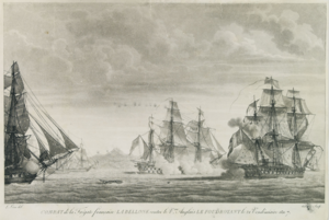 Battle between Bellone and HMS Foudroyant