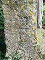 Bench Mark on milestone, Chippenham - geograph.org.uk - 1882605.jpg