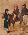 Benjamin Marshall - John Hilton, Judge of the Course at Newmarket; John Fuller, Clerk of the Course; and John Stevens, a... - Google Art Project.jpg