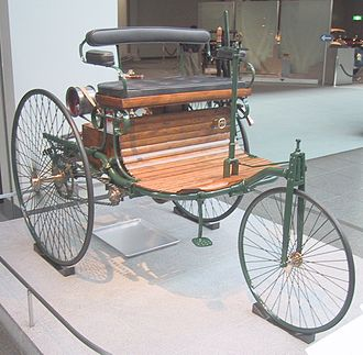 Karl Benz - Replica of the Benz Patent Motorwagen built in 1885