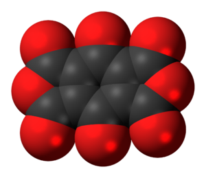 Benzoquinonetetracarboxylic dianhydride - Image: Benzoquinonetetracar boxylic dianhydride 3D spacefill