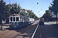 Bern-Worb trainset at former Helvetiaplatz terminus in 1979, with SVB tram passing.jpg