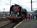 Beroun, Křivoklát expres (prosinec 2013), lokomotiva.jpg