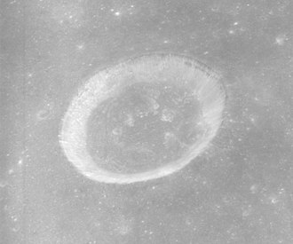 Bessel (crater) - Another view facing north at a higher sun angle from Apollo 15