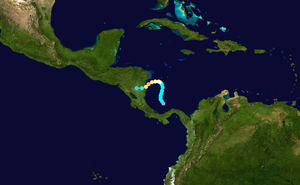 Hurricane Beta - Image: Beta 2005 track