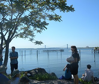 Gravesend, Brooklyn - Looking at Lower New York Bay from Gravesend (2012)