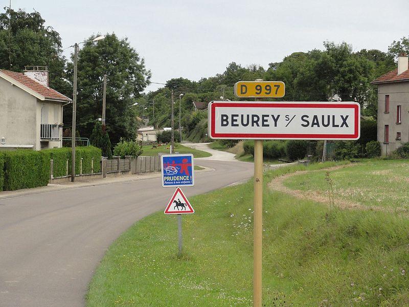 Beurey-sur-Saulx (Meuse) city limit sign