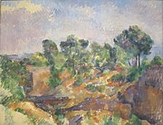 Bibémus by Paul Cézanne, c. 1894-95.JPG