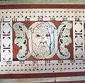 Biblioteca laurenziana, sala lettura, pavimento, 12, triplo mascherone centrale.jpg