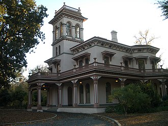 Butte County, California - A photo of Bidwell Mansion in Chico.