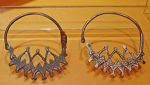 Chaoui people - Chaoui jewelry, Museum of Man, Paris, during an exhibition Germaine Tillion.