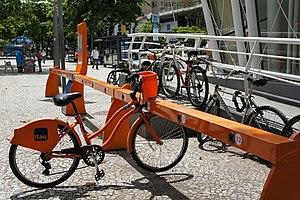 Rio de Janeiro Metro - Bicycles in a metro station in Rio.