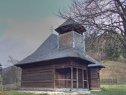 The wooden church of the Romanian Orthodox community
