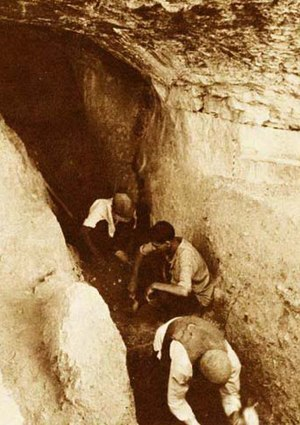 Bisitun Cave - excavations in 1949