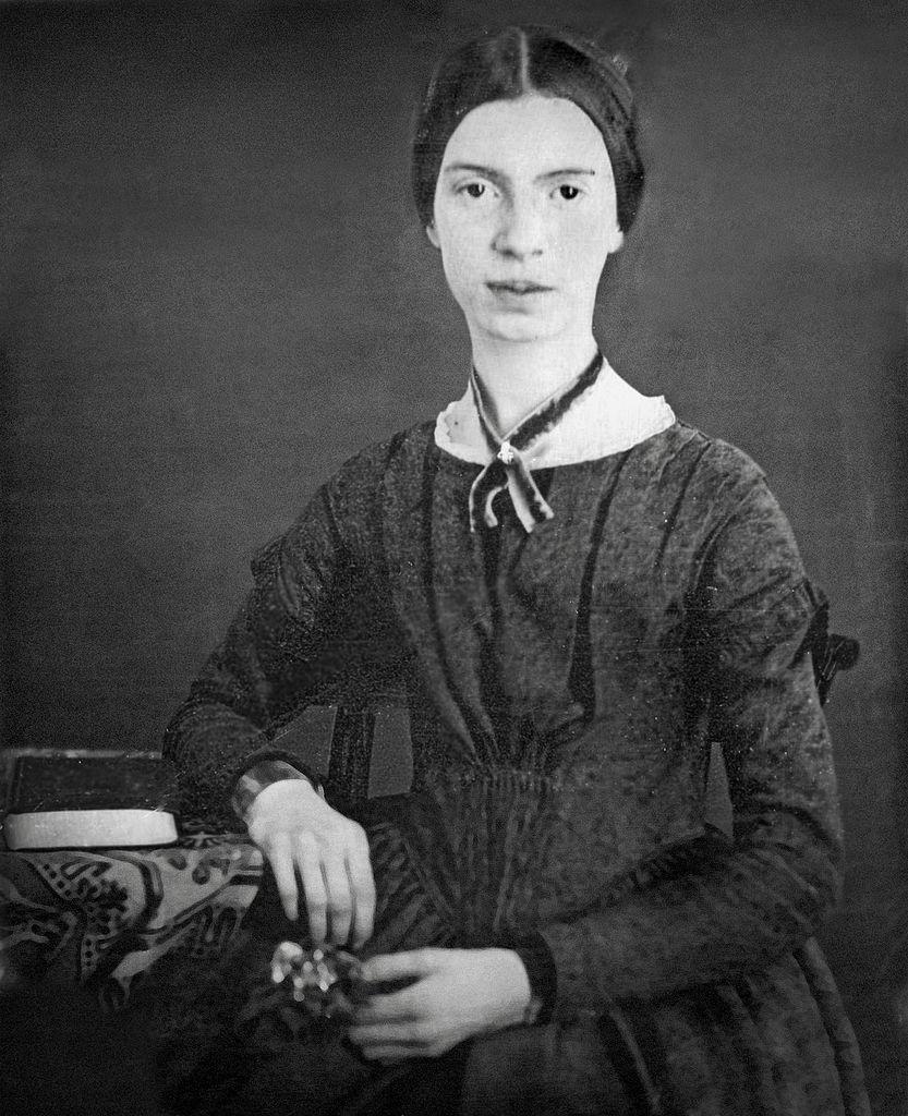 File:Black-white photograph of Emily Dickinson (Restored
