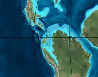 History of South America - Paleogeography of northern South America around 105 mya