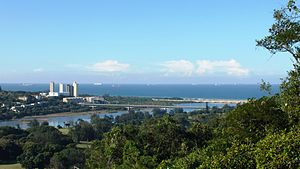 Umgeni River - The Umgeni River's Blue Lagoon at Durban North