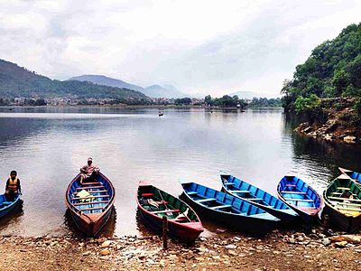 Boats ready to explore fewa lake.jpg