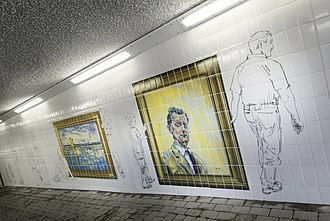 Bobby Ancell - Commemorative mural, Motherwell featuring Bobby Ancell