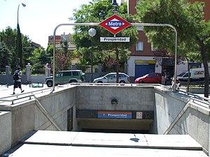 Prosperidad (Madrid Metro) - Image: Boca Metro Prosperidad DSCF0543