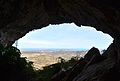 Boca d'una cova al vessant nord de la serra de Bèrnia.JPG