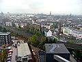 Bochum im Nebel, Ausblick vom Förderturm des Bergbaumuseums - panoramio.jpg