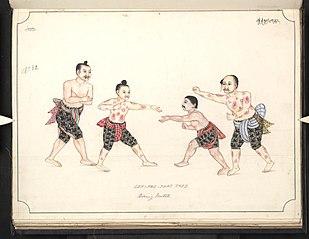 Lek-pwe-that Thee. Boxing match
