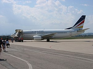 Boeing 737-300 Europe Airpost F-GIXB at LIPY.jpg