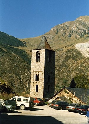 Catalan Romanesque Churches of the Vall de Boí - Bell tower of Sant Joan de Boí.