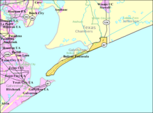 Map Of The Bolivar Peninsula Cdp