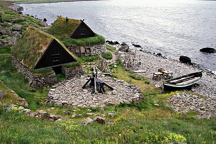 Ósvör, a replica of an old fishing outpost outside Bolungarvík - Iceland