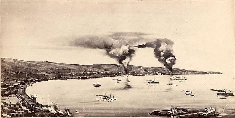 Guerra hispano-sudamericana (1865 - 1871) 800px-Bombardeo_de_Valpara%C3%ADso_31_marzo_1866