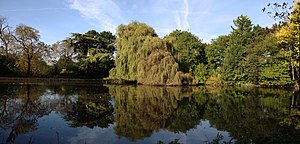 Boston Manor Park - An ornamental lake with island, dating from the era when this was a grand estate, stands close to Boston Manor
