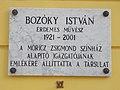 Bozóky István emléktábla, 2017 Nyíregyháza.jpg