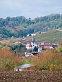 Brackenheim - Stockheim - Blick von Osten auf St. Ulrich mit Herbstlaub 2.jpg